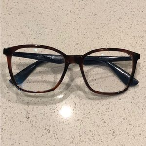 Ray-Ban square blue and tortoise shell glasses